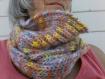 Snood multicolore femme