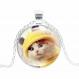 Collier chat et son bonnet jaune