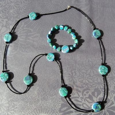 Bracelet perles pâte polymère
