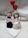 Cake topper, figurine des mariés sur le gateau (livraison incluse)