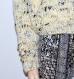 Pull femme oversize beige moucheté fait main taille 40/46