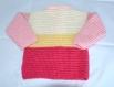 Gilet bébé crocheté main 4 couleurs taille 12 mois