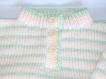 Pull bébé à motifs tricoté main taille 12/18 mois