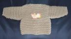 Gilet bébé beige crocheté main taille 1 mois
