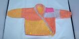 Brassière croisée bébé tricoté main taille 3 mois
