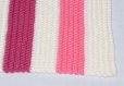 Couverture plaid bébé faite main au crochet dimensions 79 x 49 cm