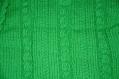Pull bébé à motifs vert clair tricoté main taille 12/18 mois