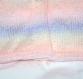 Brassière en camaïeu de rose à bleu tricotée main taille 6 mois