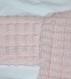 Brassière croisée rose tricotée main taille 3 mois