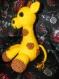 Girafe en laine faite au crochet