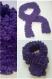 Écharpe femme violet fil fantaisie