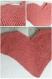 Poncho bébé corail en coton mélangé taille 3/6 mois - tricot