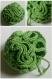 Fleur de douche verte en coton mélangé - crochet