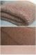 Couverture bébé épaisse saumon et écru en laine douce - tricot