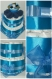 Gâteau de couches 2 étages avec chaussons et chaussettes bleu
