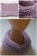 Snood enfant rose et mauve en coton taille 4/6 ans - tricot