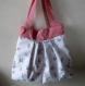 Petit sac cabas pour fillette - tissu motifs oie canne