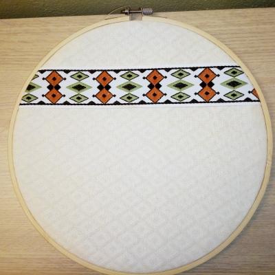 Tableau tissu blanc galon