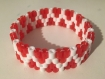 Bracelet perle hama : modèle rouge paillettes