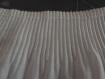 Coupon de 1.50 metre dentelle elastiquee organza deux epaisseurs blanc