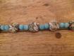 Collier en perle de verre bleu turquoise