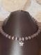 Collier en perle de verre mauve et argent tibetain