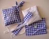 Kit broderie suisse, sur taie de coussinet lavande à suspendre dans les armoires