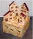 Village en bois de récupération - petit village décoratif