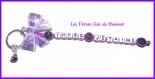 Porte clés prénom • violet • 1 prénoms