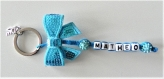 Porte clés prénom •turquoise • 1 prénoms