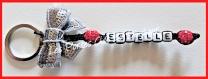 Porte clés prénom • noir, rouge et gris • 1 prénoms