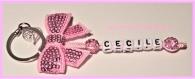 Porte clés prénom • rose • 1 prénoms