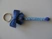 Porte clés prénoms • bleu • 1 prénoms