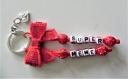 Porte clés prénom • rouge • 2 prénoms