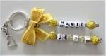 Porte clés prénom • doré • 2 prénoms