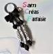 Porte clés prénom • noir • 3 prénoms