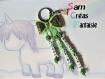 Porte clés prénom • vert • 3 prénoms