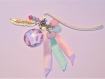 Marques pages cabochon • plumes roses et violettes