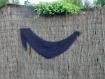 Chèche asymétrique au crochet en alpaga