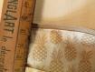Pochette en velour côtelé beige imprimé ananas -  toucher doux et soyeux - collection automne