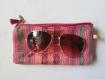 étui à lunettes ou téléphone motifs ethnique avec pompom, cadeau parfait pour femme chic, hippie chic, bohème, girly, vegan