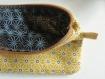 étui à lunettes ou téléphone jaune à motifs avec pampille, cadeau parfait pour femme chic, hippie chic, bohème, girly, vegan