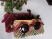 étui à lunettes ou téléphone motifs ethnique avec pompom, stlye hippie chic, bohème, girly, vegan