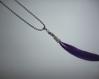 Collier plume violette
