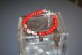 Bracelet perles verre et céramique