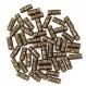 Lot de 10 perles en métal longue bronze