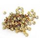 Lot de 10 perles strass multicolores