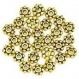 Lot de 10 perles doré billes