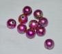 Lot de 10 perles tourbillon rose