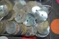 56 lot de 10 bouton en nacre de 0.5cm de diamètre